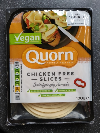Quorn gluten free vegan chicken slices